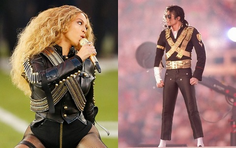At Super Bowl 50, Beyoncé Pays Homage to Michael Jackson