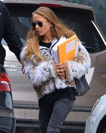 Mary-Kate Olsen Is Wearing a Rock Star Fur and Totally Owning It