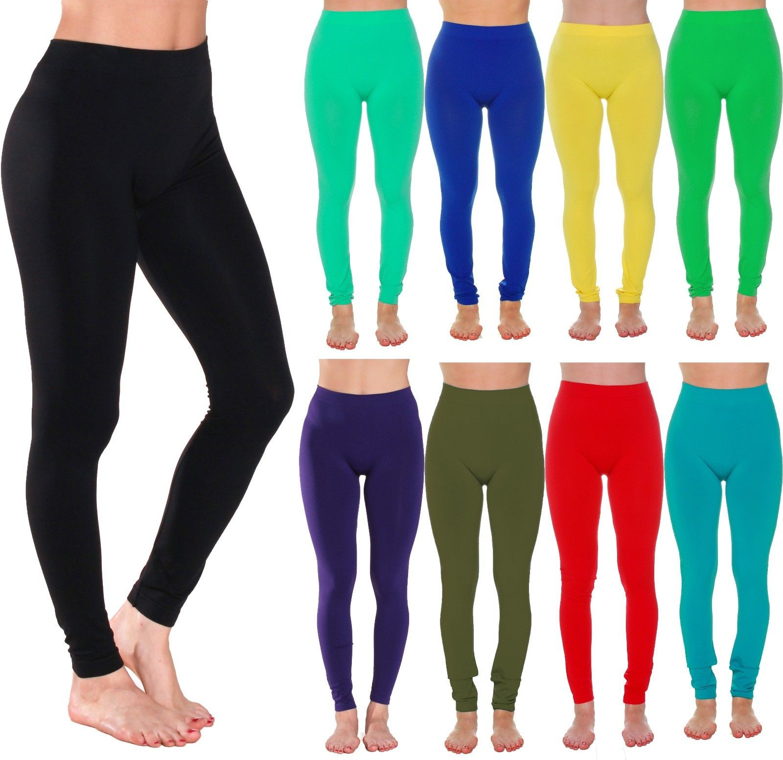 Women/'s Seamless Fleece Lined Leggings Fitted Stretchy Workout Pants One Size