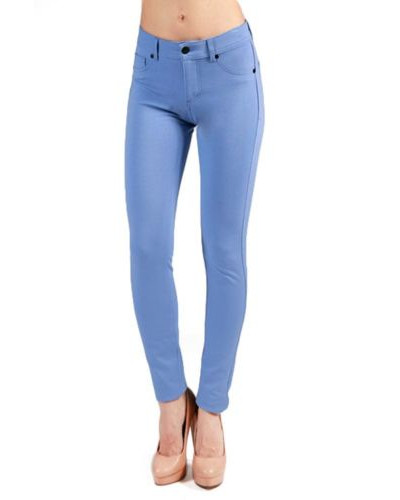 NEW Womens Jeggings Tight Fitted Stretchy Spandex Skinny Pocket Zipper Pants SML