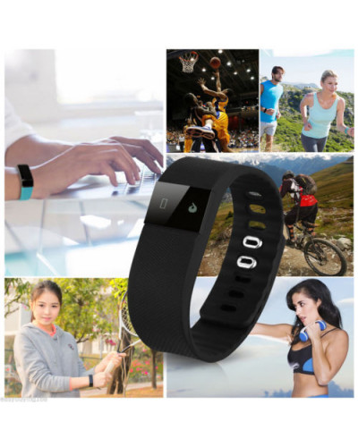 OLED Smart Bracelet Bluetooth Wristband Sports Watch Pedometer Calorie Tracking